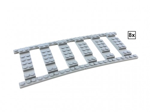 Image of Trixbrix product: Ballast Plate R120 Set - 8 pieces for 8 R120 tracks