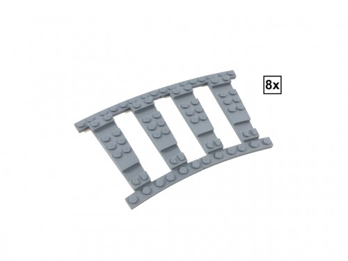 Image of Trixbrix product: Ballast Plate R40 Set - 8 pieces for 8 R40 tracks