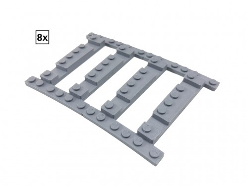Image of Trixbrix product: Ballast Plate R72 Left - 8 pieces for 8 tracks
