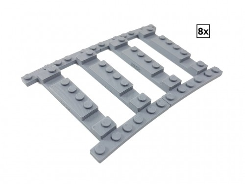 Image of Trixbrix product: Ballast Plate R72 Right - 8 pieces for 8 tracks