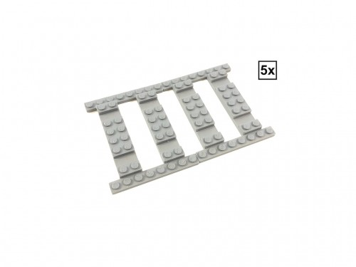 Image of Trixbrix product: Ballast Plate Straight Set - 5 pieces for 5 straight tracks