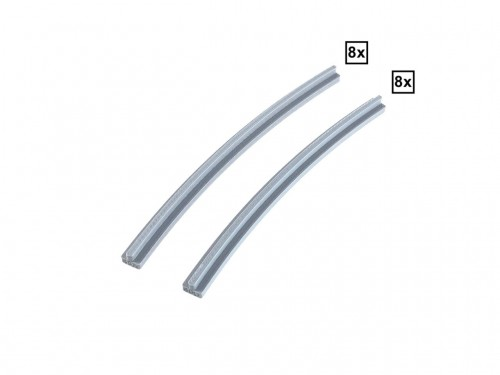 Image of Trixbrix product: Curved Rails R40A + R40D Set 8x + 8x