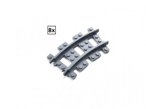 Image of Trixbrix product: Narrow Curved Track R24 Set 8x (Half Circle)