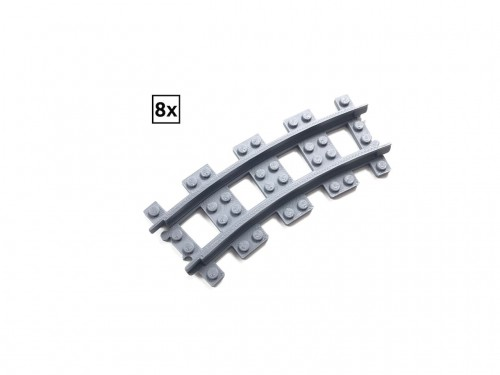 Image of Trixbrix product: Narrow Curved Track R36 Set 8x (Half Circle)