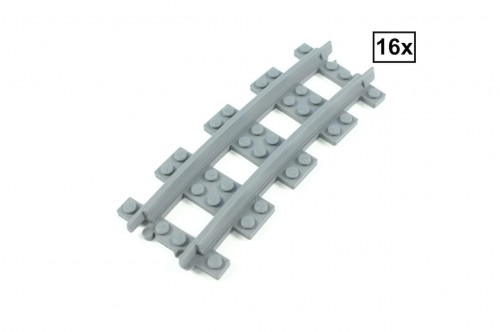 Image of Trixbrix product: Narrow Curved Track R72 Set 16x (Half Circle)