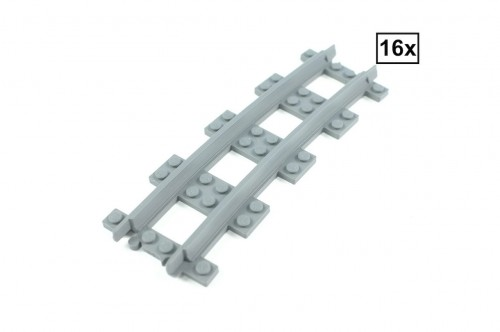 Image of Trixbrix product: Narrow Curved Track R84 Set 16x (Half Circle)